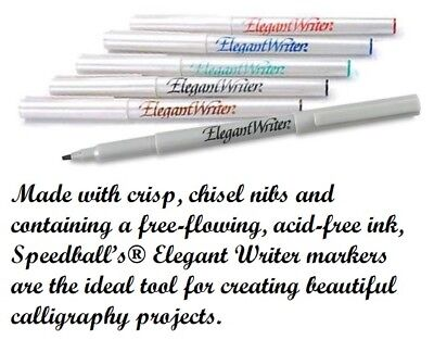 Speedball Elegant Writer Calligraphy and Fine Lettering Marker Pen Sets