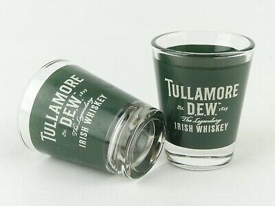 2 x Tullamore Dew Irish Whiskey Shot Glasses. Brand New No Box.