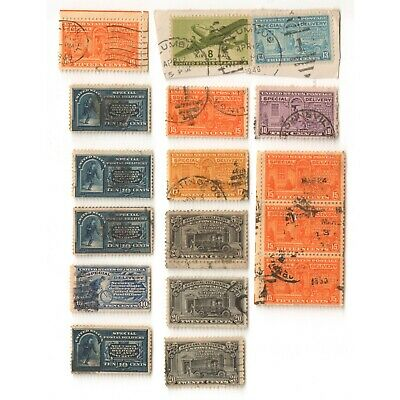 US Mixed Special Delivery used Stamps