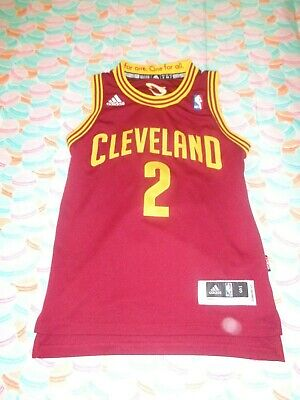 Adidas NBA Cleveland Cavaliers Kyrie Irving Sewn Jersey Size Youth Small +2 Lgth
