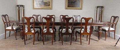 Mahogany Dining Set - Victorian Table and Queen Anne Chairs Set 10