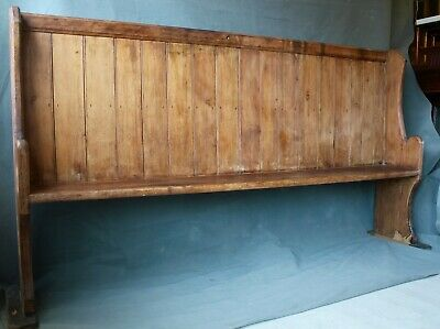 rustic large long antique pine church pew bench 7ft
