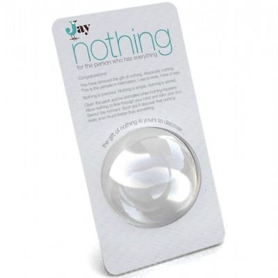 Jay Gift Of Nothing For The Person Who Has Everything  Man Woman Quirky Mens