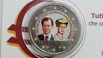 2 euro 2019 Lussemburgo color farbe couleur kleur Luxembourg Luxemburg Charlotte