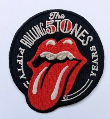 The Rolling Stones Fifty Years Iron On Patch