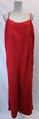 Boohoo Women's Maternity Culotte Jumpsuit LL1 Red Size US:12 UK:16 NWT