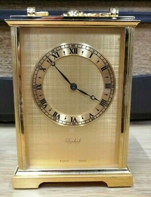 Lovely Very Rare Antique Imhof Solid Brass Carriage Clock 8 Days Swiss Made A314