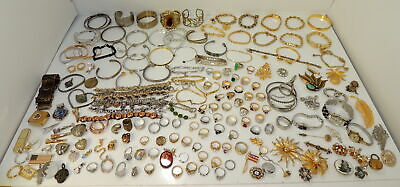 Huge Lot of Designer Jewelry 14KGP Rings, Bracelets, Watches, Chains & More!