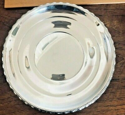 "Sterling silver,8.5"" round plate, La Pierre mark, 121 grams"