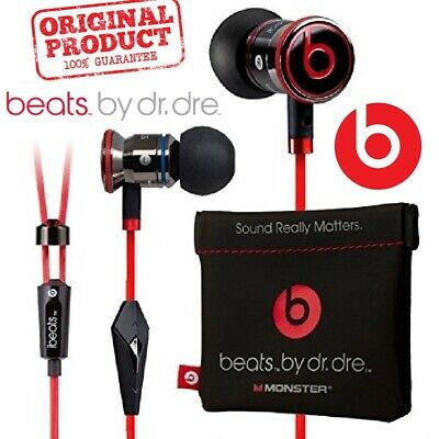 Genuine Monster iBeats By Dr. Dre In Ear Headphones Beats Earphones Black White