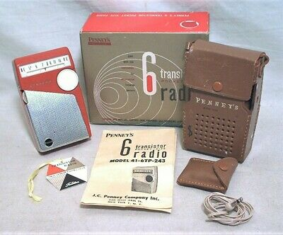 Toshiba Penney's 6 Transistor Radio In Ob W/ Case - Tag - Antenna - Instructions