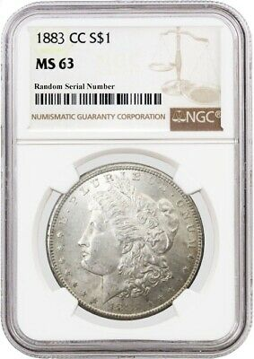 1883 CC $1 Morgan Silver Dollar NGC MS63