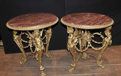 Pair Louis XV Ormolu Maiden Side Tables French Table