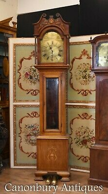 Antique Grandfather Clock 1910 - Edwardian Brass Face