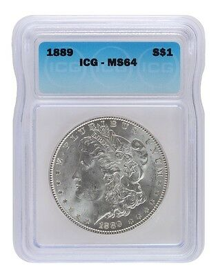 Pre 1921 Silver Morgan Dollar ICG MS64 S$1 Lot of 1 *Credit Card Payment Only