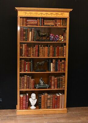 Regency Open Bookcase - Satinwood Sheraton Bookcases