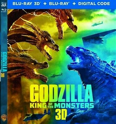 Godzilla: King of the Monsters - 2019 3D Blu ray ( Regional code not required)