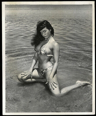 "Bunny Yeager Estate 1954 Bettie Page Original Gelatin Silver Photograph 8"" X 10"""