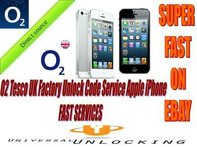 O2 UK  IPHONE UNLOCK CODE 4 4S 5 5S 5C 6 6+ SE 6S 6S+7 7+ 8 8+ X Tesco GiffGaff