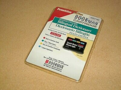 Franklin Bookman Bookcard - Spanish-English Dictionary - Dbe-2020 - Sealed