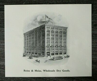 USA) Cincinnati 1909 1910 Reins & Meiss Wholesale Dry Goods Tramway Architektur