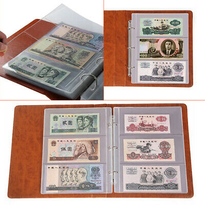 Banknotes Album Lighthouse Currency Collection Binder Money w/ Vario Pages