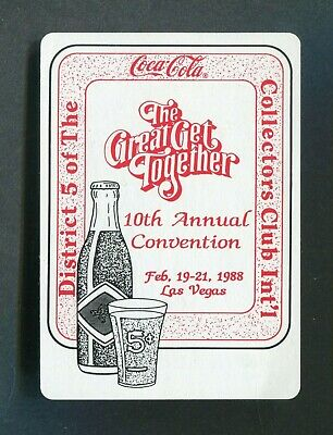 COCA-COLA COLLECTORS CLUBS: 10th Annual Convention 1988 -  1 Single Playing Card