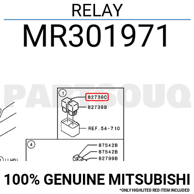 MR301971 Genuine Mitsubishi RELAY