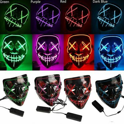 Halloween Mask LED Light Up Party Masks The Purge Election Year Scary Mask