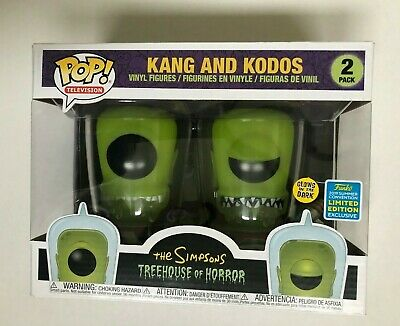 Funko Pop KANG and KODOS 2 Pack The Simpsons SDCC/Summer Exclusive NIB