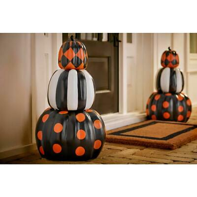Halloween Prop Stacked Pumpkins Decoration Haunted House Scary Outdoor Decor