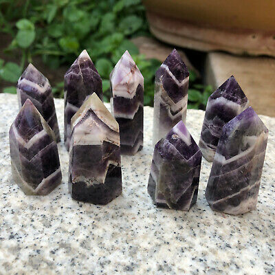 Natural dream amethyst quartz crystal obelisk wand point healing 1pc 20-30g
