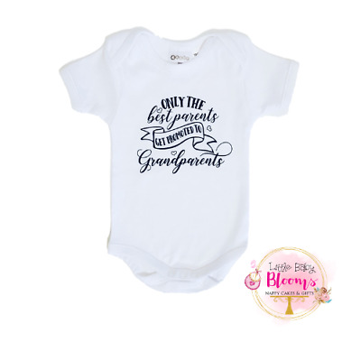 Pregnancy Announcement Baby Body Suit, Grandparents Baby Reveal