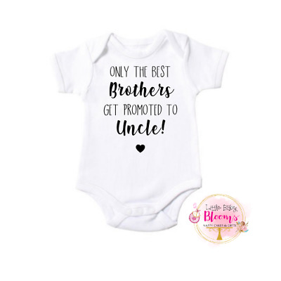 Promoted to Uncle Pregnancy Announcement Bodysuit, Baby Reveal