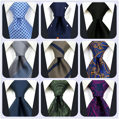 S/&W SHLAX/&WING Mens Neckties Solid Blue Navy for Suit Tie Silk