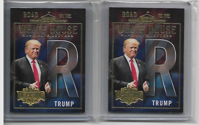 Donald Trump Letter R Decision 2016 Road to the White House Gold Foil Card