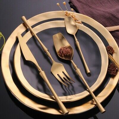 stainless steel cutlery set gold