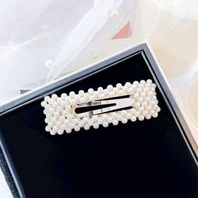 Women's Girls Pearl Hair Clip Silver Hairpin Grips Barrette Hair Accessories Hot