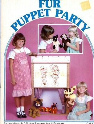 Fur Puppet Party GM-17 11 Projects Sewing Full-Size Patterns BOOK