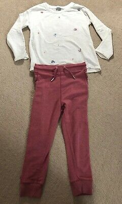 Girls NEXT Outfit Casual Age 6 Years Pull On Joggers & L/S Top