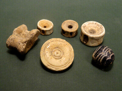 6 Ancient Gaming Pieces Roman & Earlier