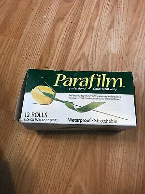 Florist Green Parafilm stem tape - Whole Box Of 12 Tapes