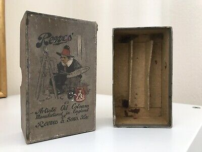 Vintage Collectable Reeves Oil Paint Tubes Box