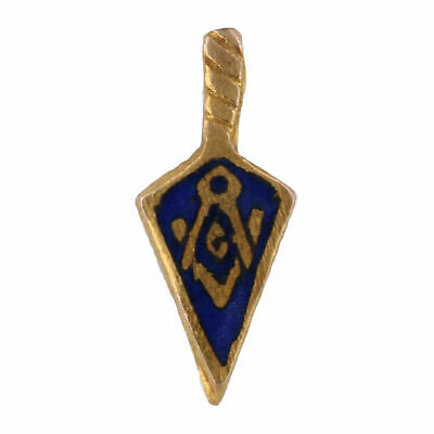 Vintage Blue Lodge Trowel Lapel Pin - 10k Gold & Gold Filled Tiny Masonic