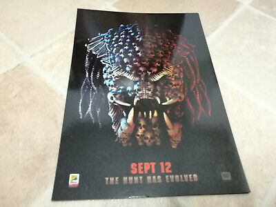 Exclusive Predator Odeon promotional A4 poster 2018 original