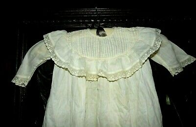 Antique Victorian Edwardian Gorgeous Ornate Pleated Lace Baby Christening Dress
