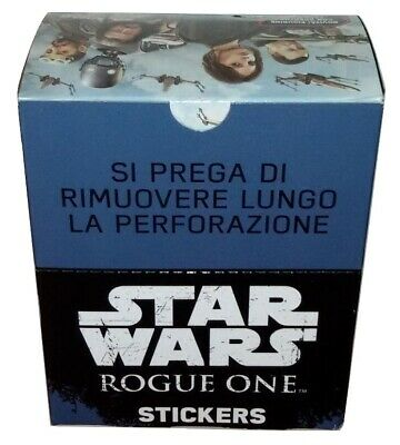 Star Wars Rogue One Box 50 Packs Stickers Topps Italy