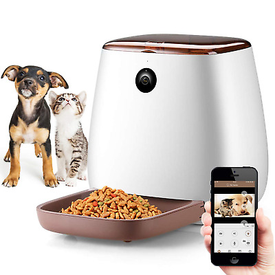NICREW Automatic Cat Feeder with 1080P HD Wifi Camera, Smart Feed Auto Pet Food