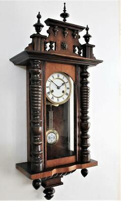EXCELLENT ANTIQUE STRIKING GERMAN VIENNA REGULATOR WALL CLOCK Circa 1900