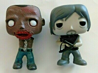 The Walking Dead Funko Pop Lot of 2 145 B&W Daryl Dixon and 39 Michonne's Pet 2
